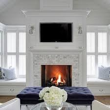 Bedroom Fireplace Ideas bedroom fireplace with built in window seats transitional