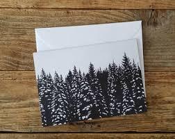 wildlife treasury cards black white snowy pines greeting cards graphic cards