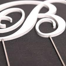 b cake topper metal monogram cake topper custom made craftcuts