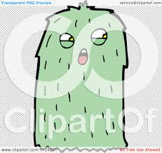 halloween monsters background fantasy cartoon of a green hairy alien or halloween monster