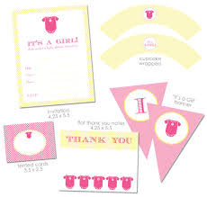 Invitation Cards Free Printable Girls Template Free Printable Baby Shower Invitation