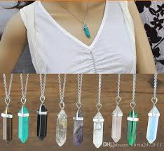 crystal quartz stone necklace images Wholesale jewels crystal necklace stone jewelry silver crystal jpg