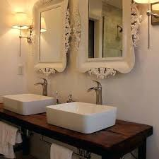 Unfinished Wood Vanity Table Vanities Artistic Floating Bathroom Vanity Draped Extensively In