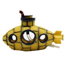beautiful aquarium ornament spaceship sunk ship fish tank aquarium