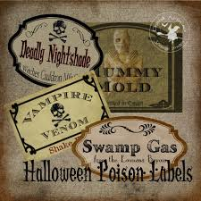 halloween lables halloween poison labels vintage witch u0027s cabinet digital