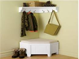 storage bench with coat rack wall declutter your hallway and