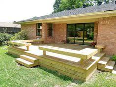 garden bench built out of decking google search valmarana