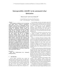 interoperability with ifc in the automated rebar fabrication pdf