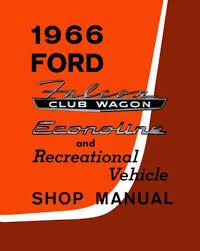 1966 ford econoline van shop service repair manual engine