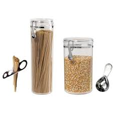 oggi canister set u2013 spaghetti container popcorn canister scoop
