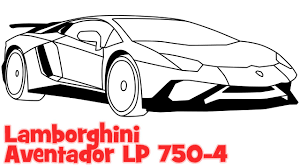 car drawing how to draw a car lamborghini aventador step by step easy drawing