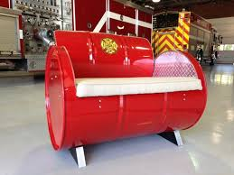 Armchair Cushion Fire Chief Steel Drum Armchair With Fabric Accents And Removable