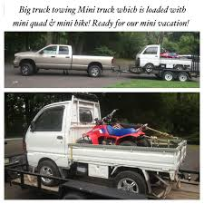 mitsubishi fuso 4x4 crew cab japanese mitsubishi mini truck loaded with mini quad and mini dirt