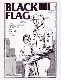 Vintage Flag Art Raymond Pettibon The Art Of Black Flag 1980s Asx