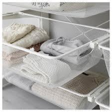 algot post foot mesh baskets white 132x47x194 cm ikea