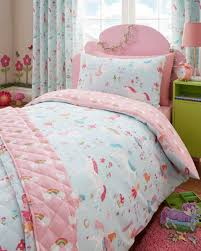 girls bedding horses kidz club magical unicorns childrens single bed duvet cover and