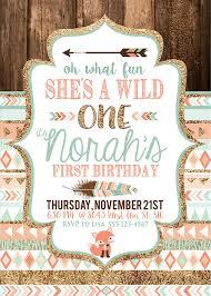 tribal wild one party invite birthday baby u0027s first birthday by
