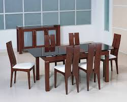 black and wood dining table casual glass top dining table thedigitalhandshake furniture