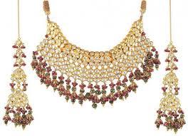 gold bridal sets bridal necklace set ajns51166 22kt gold bridal set set has