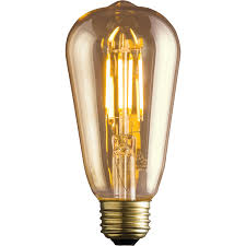 dimmable light bulbs lowes shop kichler vintage 60w equivalent dimmable amber vintage led