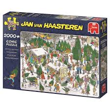 amazon com jumbo jan van haasteren christmas tree market jigsaw