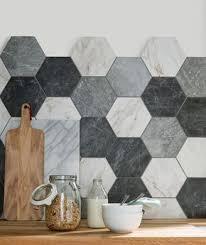 forme cuisine carreaux de forme hexagonale pour la cuisine kitchen ideas