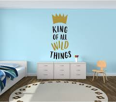 wall theme wall decal for kids king of things where the things