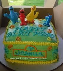 coolest sesame street birthday cake design