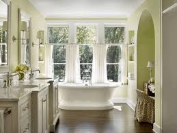 Bathtub Curtains Bathrooms Curtains White Finish Stained Plastering Wall Brown