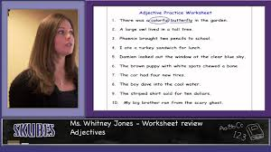 adjectives worksheet youtube