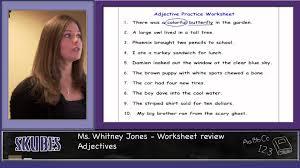 adjectives worksheet youtube