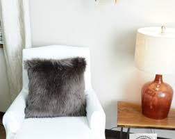 Pottery Barn Faux Fur Pillow Pottery Barn Pillow Etsy