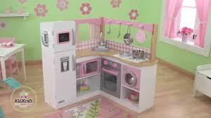cuisine pour enfants grande cuisine d angle en bois pour enfant kidkraft