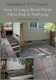 Diy Patio With Pavers How To Lay A Brick Paver Patio Or Path Sand And Sisal