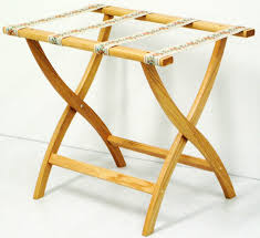 White Bedroom Luggage Rack With Shelf Wooden Luggage Stand In Luggage Racks