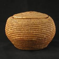 large wicker baskets with lids round sweet grass coastal salish indian basket with matching lid