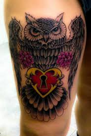 heart owl tattoo by nirvana tattoo