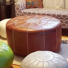 Pouf Ottomans Ikram Design Moroccan Leather Pouf Reviews Wayfair
