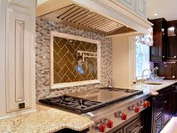 stacked stone backsplash cozy kitchen design with herringbone