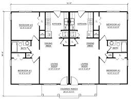 Duplex With Garage Plans Image Result For One Story 2 Bedroom Duplex Floor Plans With