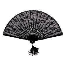 black lace fan handmade retro style folding flower lace fan in party favors from