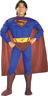 Superman Halloween Costumes Adults Costumes Occasions Ru82302lg Superman Muscle Chest Chld Lg