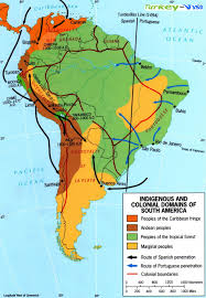 1600 Map Of America by Map Of South America