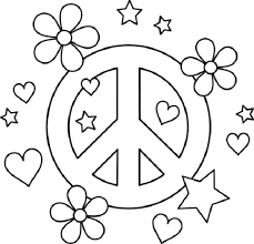 coloring pages flowers and hearts funycoloring