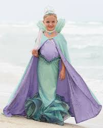 mermaid costumes for girls while the cape will keep her warm