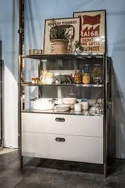 Kitchen Bookshelf Cabinet Kitchen Shelving Cabinet Residential Open Columns Alpes Inox