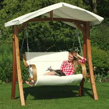 Patio Swing Cushions Deluxe Patio Swing With Canopy Powder Coated Steel Frame 3 Seat