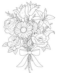 printable coloring pages of pretty flowers pretty flower coloring pages free printable flowers colouring pages