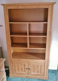 Mahogany Effect Bookcase Laminated Light Oak Effect Bookcase With 2 Door Cupboard Shelves