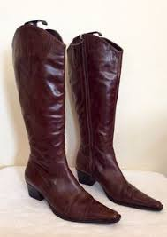 womens boots marks and spencer brown faux suede stretch knee high boots size 7 40 30
